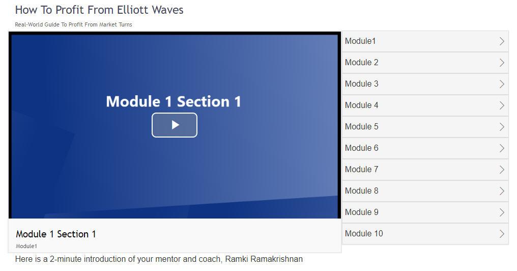 Ramki's online Elliott Wave Educational Program