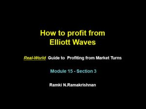 """Title of latest addition to Ramki's lliott Wave Course and it reads """"How to Porift From Elliott Waves"""" Real-world guide to profiting from market turns"""